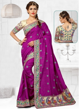 Impeccable Booti And Stone Work Wedding Saree