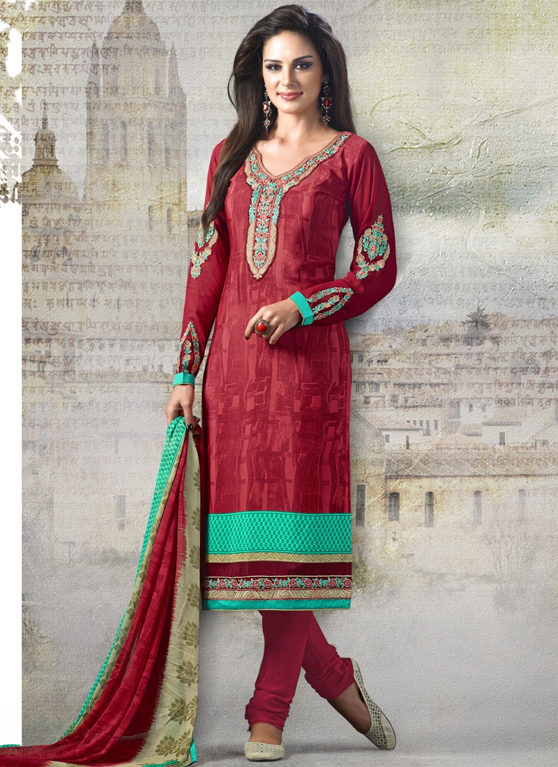 Impeccable Booti Work Casual Salwar Suit