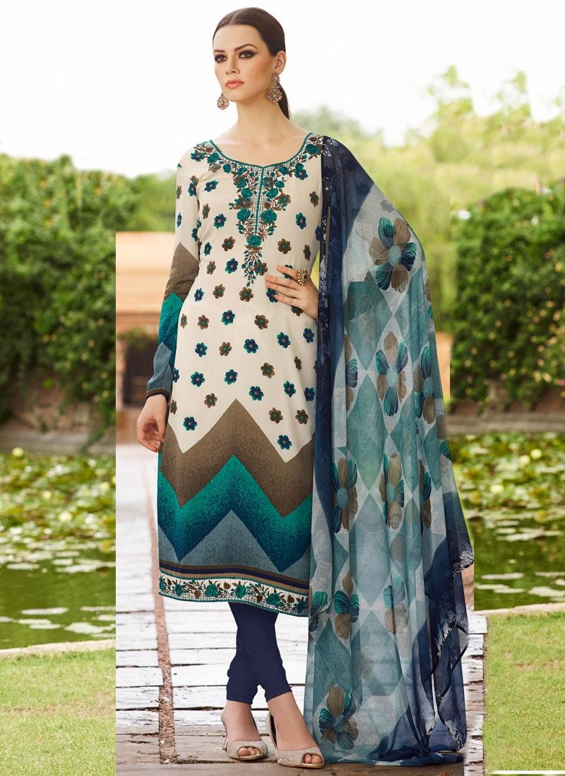 Impeccable Crepe Silk Stone Work Churidar Salwar Suit