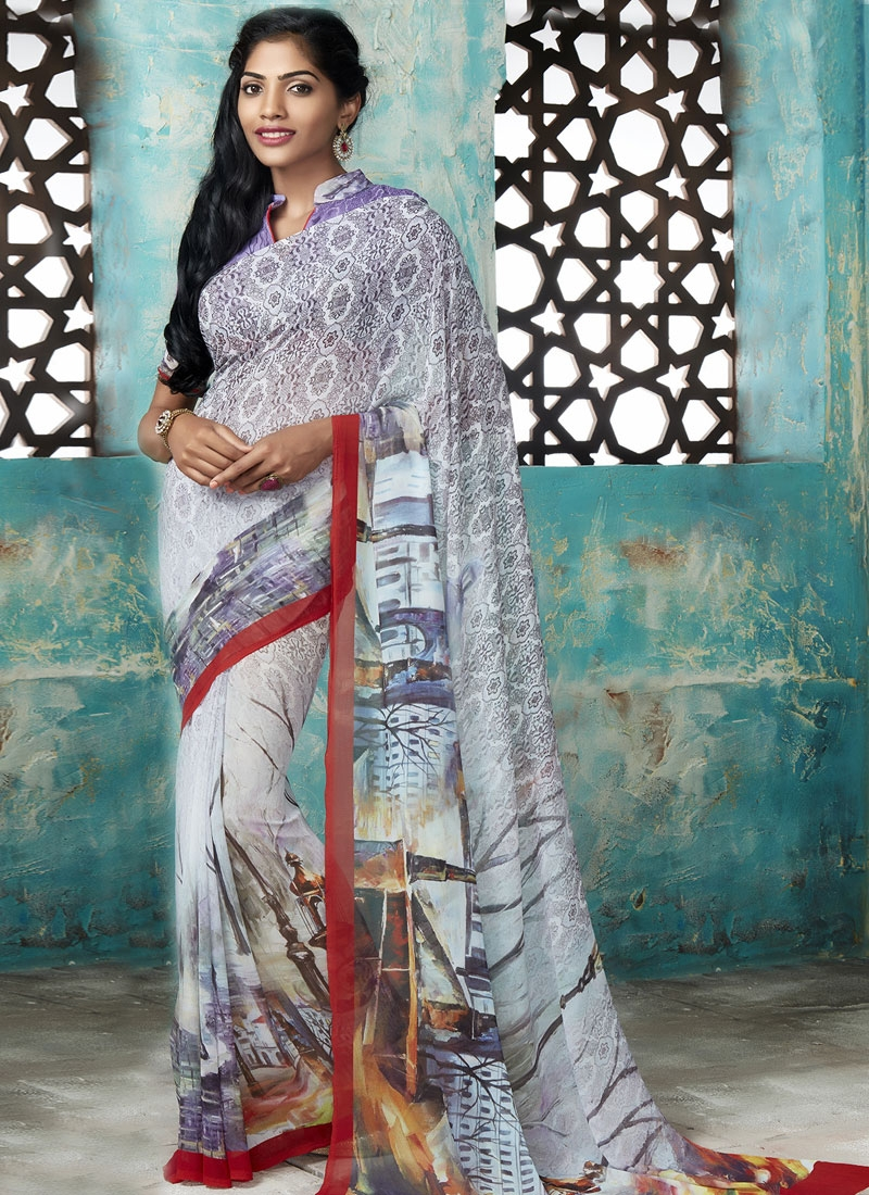 Impeccable Faux Georgette Casual Saree