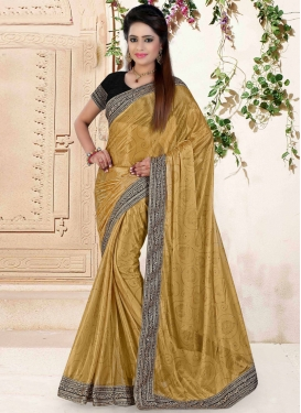 Impeccable Lycra Lace Work Party Wear Saree