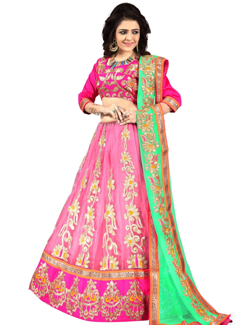 Impeccable Mirror Work Designer Lehenga Choli