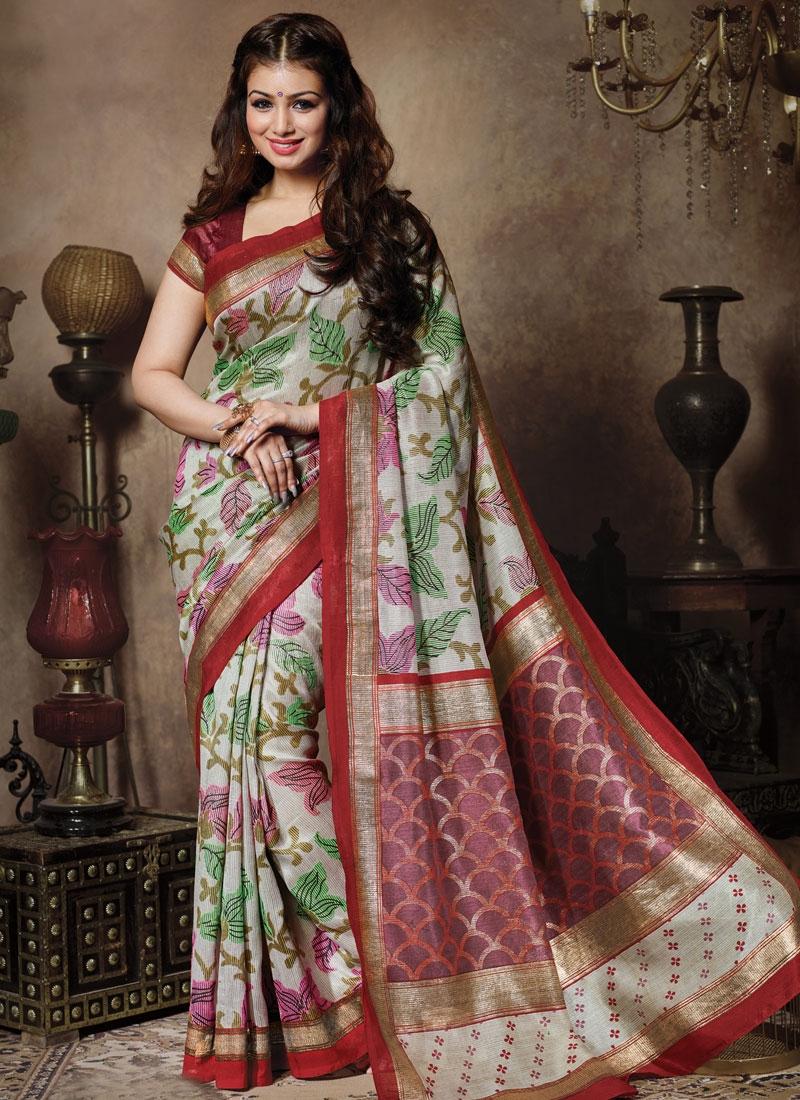 Impeccable Printed Art Silk Ayesha Takia Casual Saree