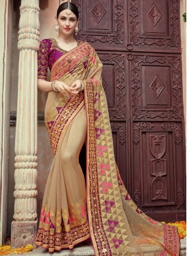 Impeccable Pure Chiffon Trendy Designer Saree