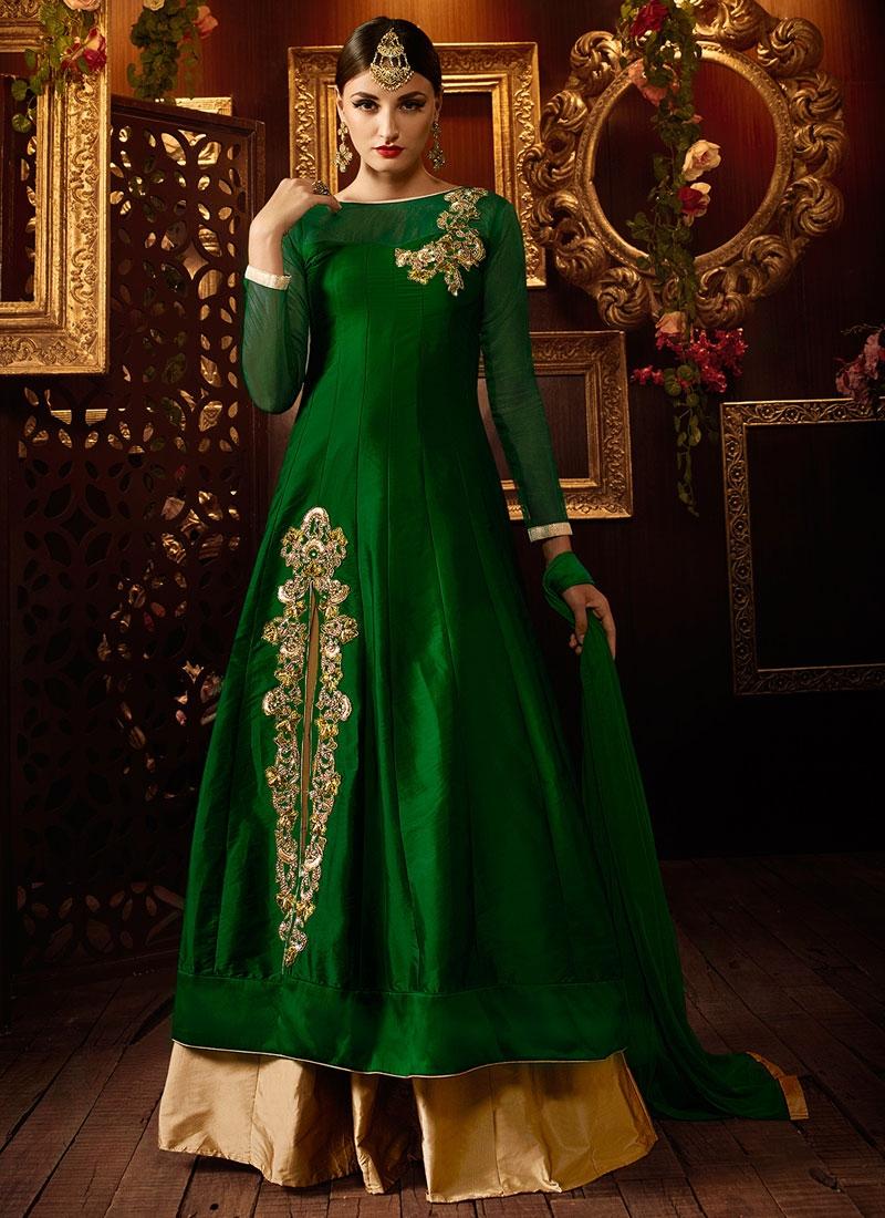 Impeccable Resham Work Silk Designer Lehenga Choli