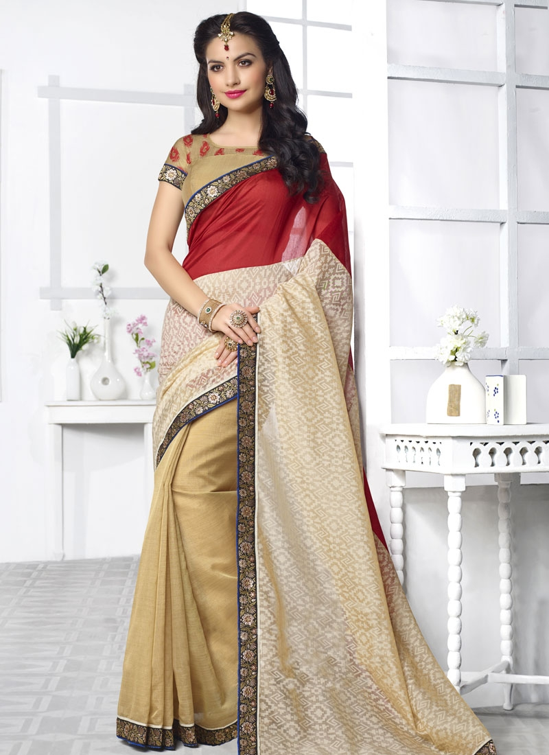 Impeccable Stone Work Silk Party Wear Saree