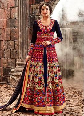 Impeccable  Velvet Pant Style Designer Salwar Kameez