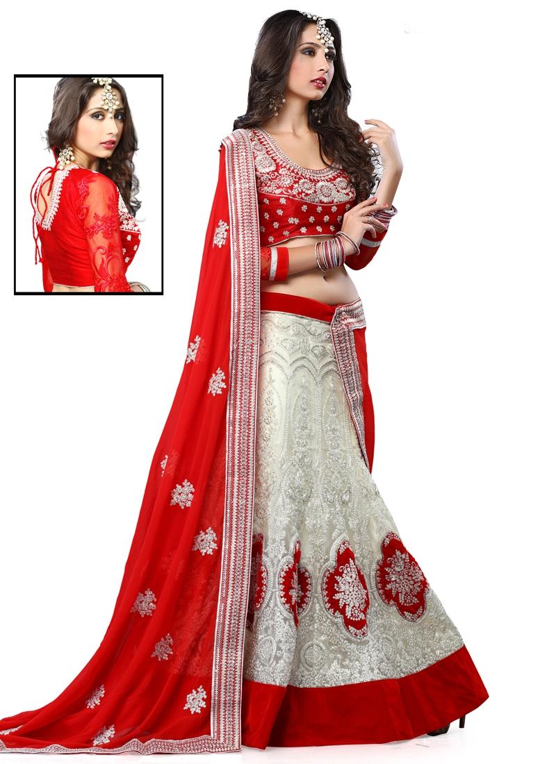 Impeccable Velvet Patch Border Work Wedding Lehenga Choli