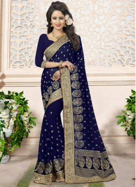 Imperial Beads Work Trendy Classic Saree