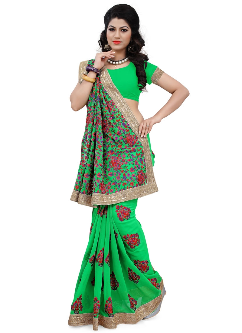 Imperial Booti Work Wedding Saree