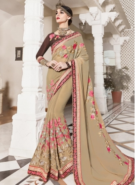 Imperial Faux Georgette Trendy Saree For Ceremonial
