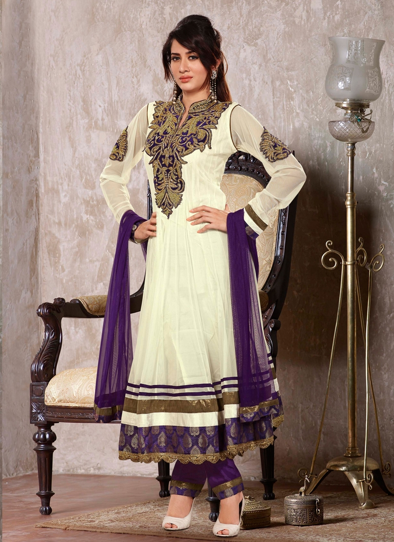 Imperial Multi Work Readymade Anarkali Suit