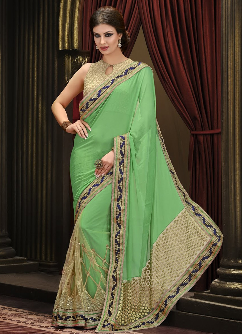 Imperial Sequins Work Net Party Wear Saree