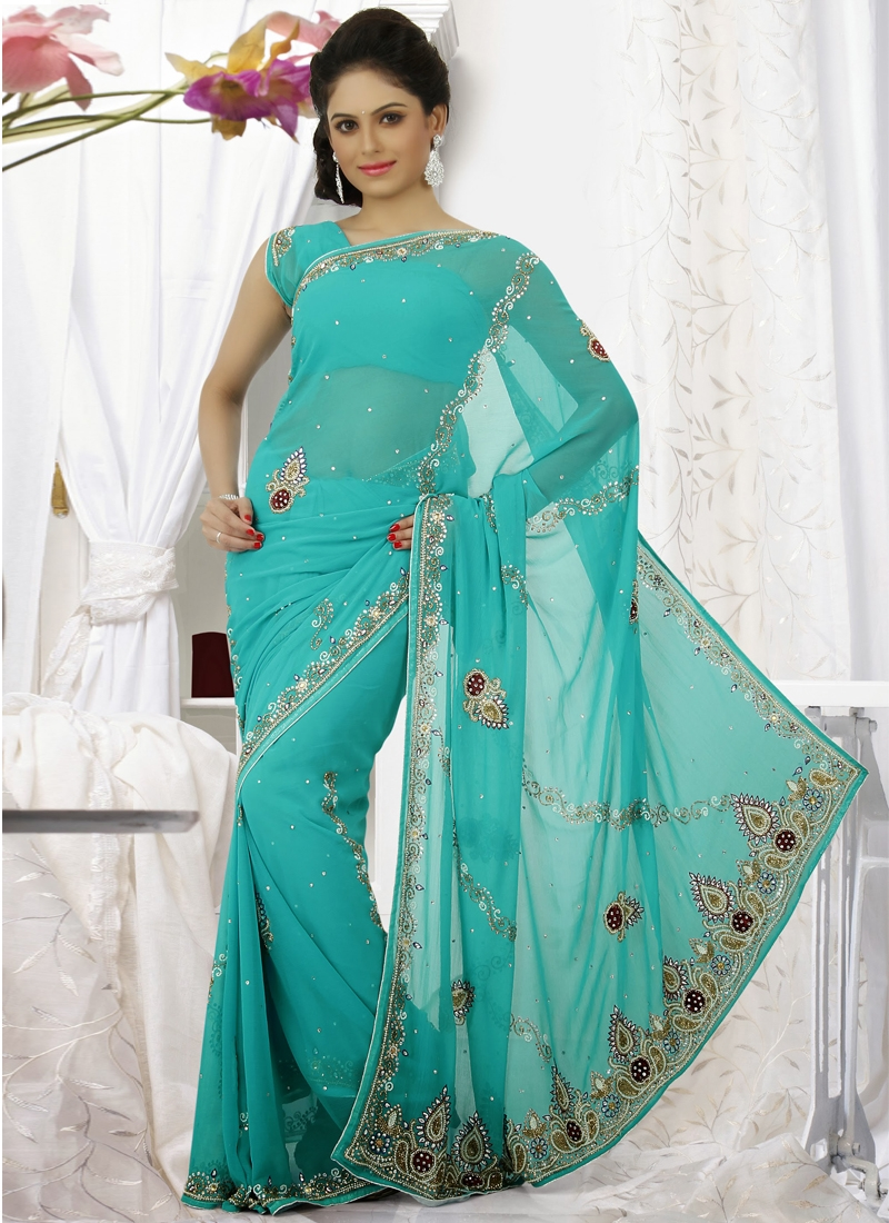 Imperial Stone Enhanced Party Wear Saree