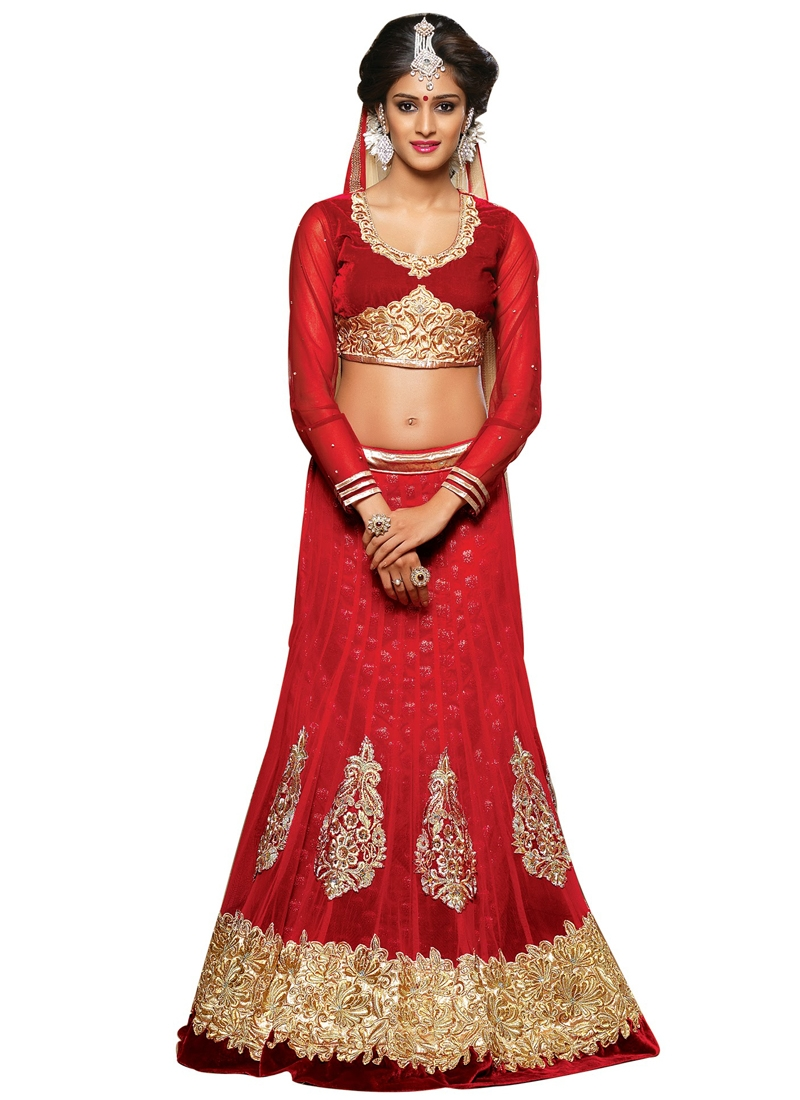 Imposing Booti Work Wedding Lehenga Choli