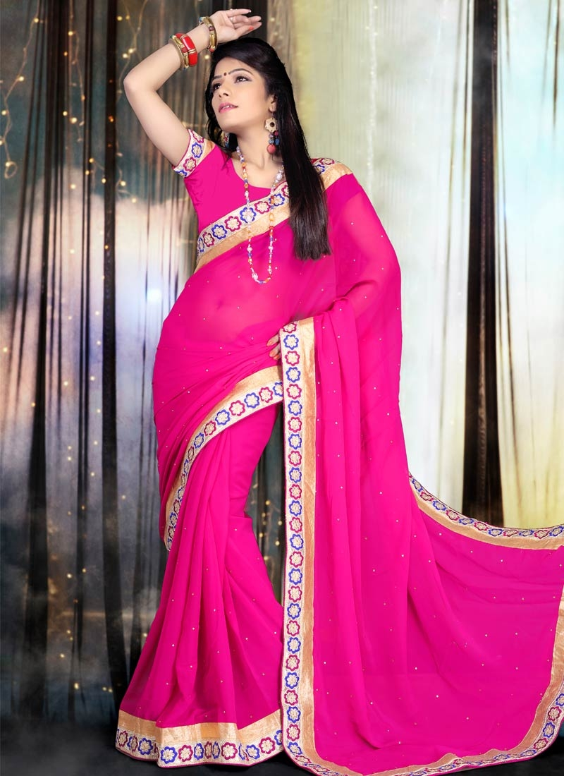 Imposing Lace And Stone Work Party Wear Saree
