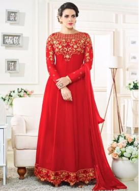 Imposing  Long Length Anarkali Salwar Suit For Ceremonial