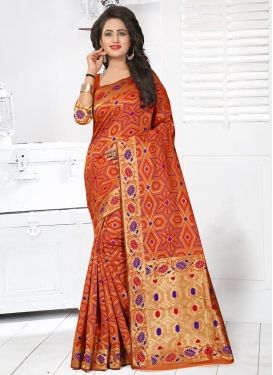 Imposing Resham Work Contemporary Style Saree For Ceremonial