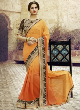 Imposing Sequins Work Party Wear Saree
