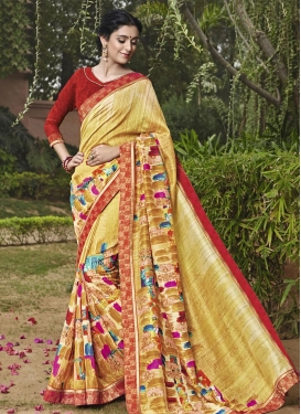 Impressive Art Silk Lace Work Trendy Classic Saree