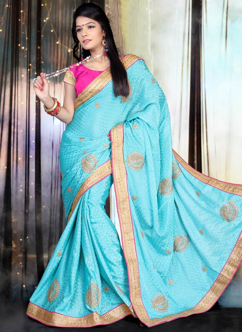Impressive Chiffon Satin Party Wear Saree
