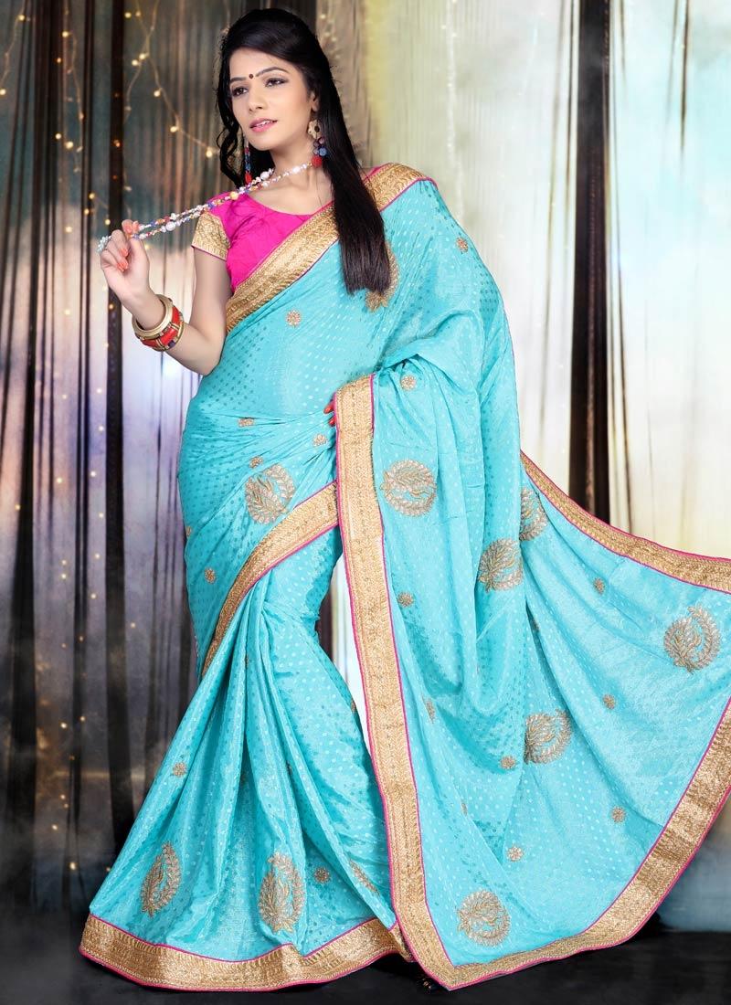 Impressive Chiffon Satin Party Wear Saree