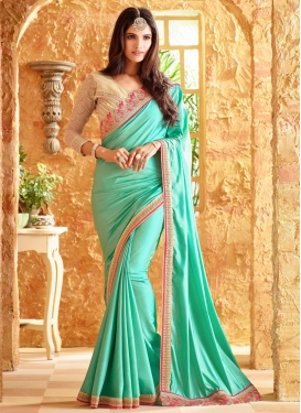 Impressive  Embroidered Work Trendy Classic Saree For Ceremonial