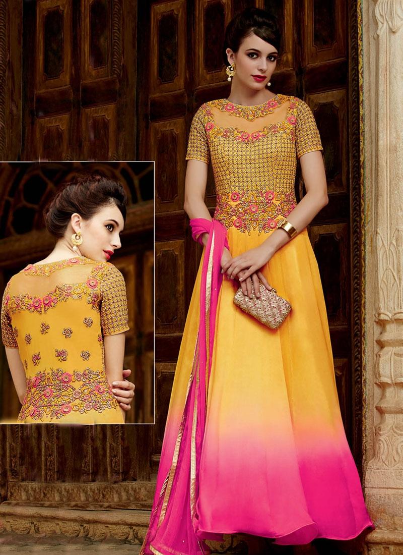 Impressive Embroidery Work Ankle Length Designer Salwar Kameez