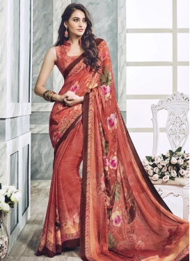 Impressive Faux Georgette Traditional Saree