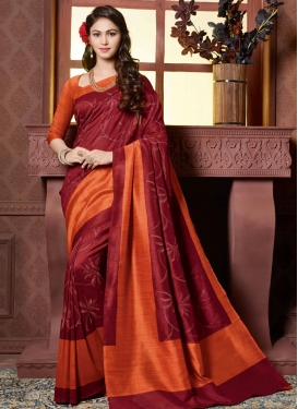 Impressive Resham Work Art Silk Party Wear Saree