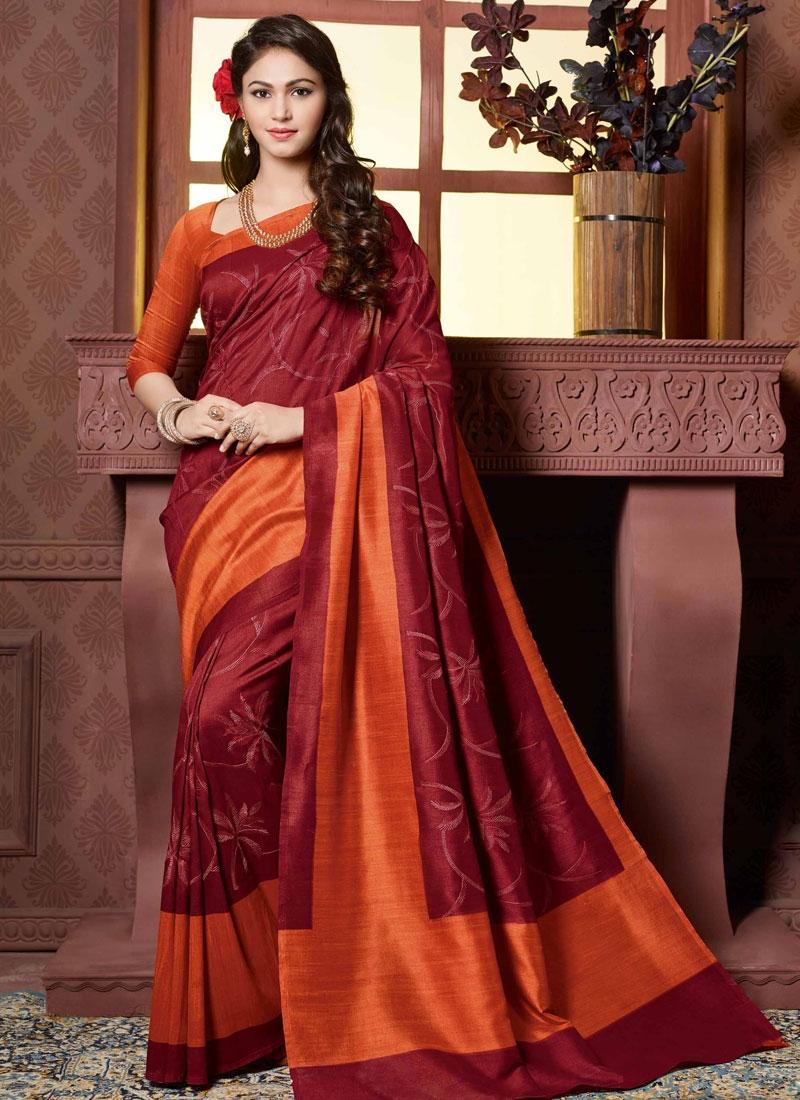 Impressive Resham Work Art Silk Party Wear Saree