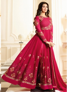 Incredible Ayesha Takia Faux Georgette Floor Length Designer Salwar Suit