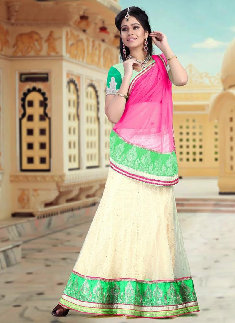 Incredible Lace Work Net Party Wear Lehenga Choli