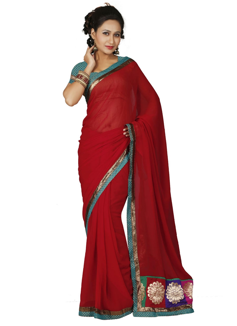 Incredible Patch Border Work Casual Saree