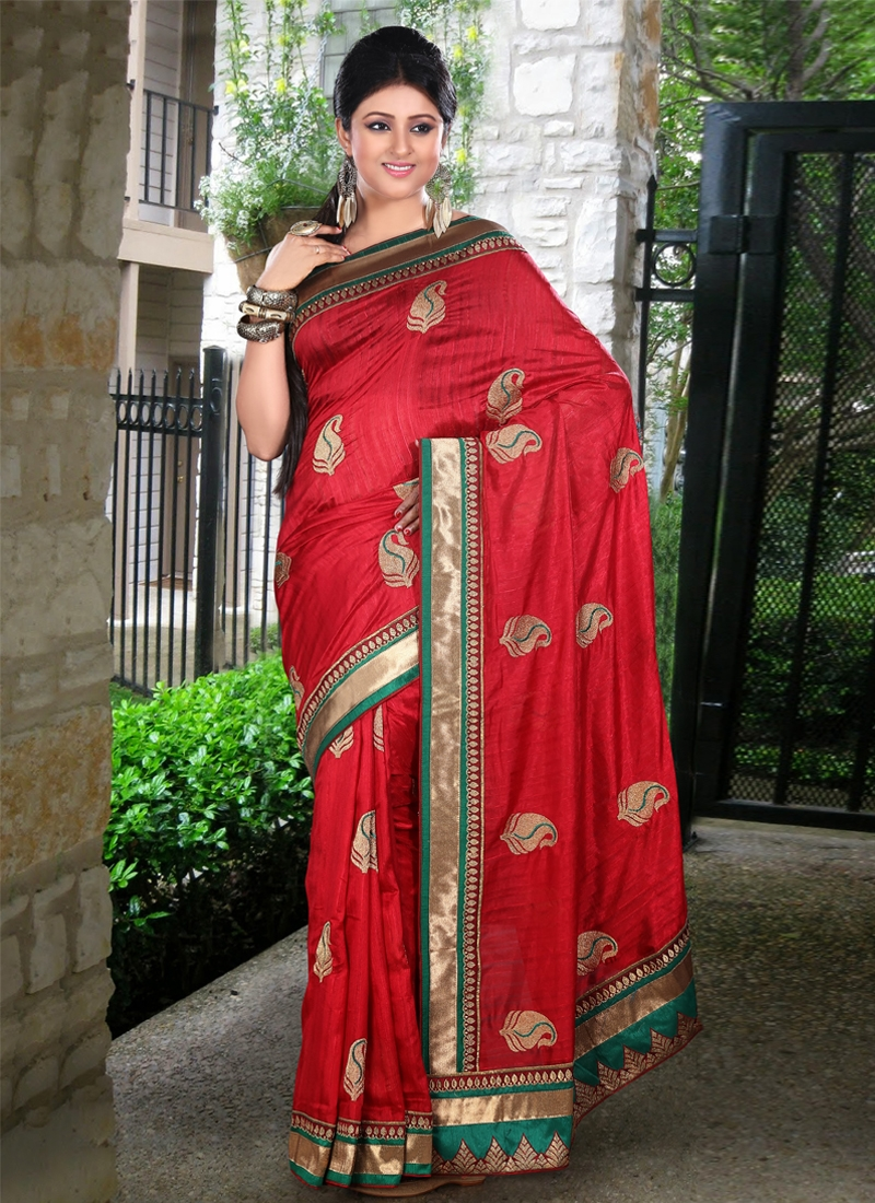 Incredible Patch Enhanced Party Wear Saree