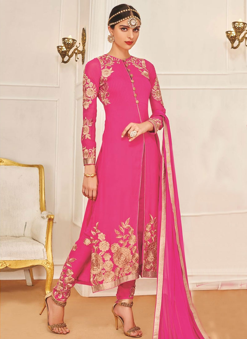 Incredible Resham Work Party Wear Suit