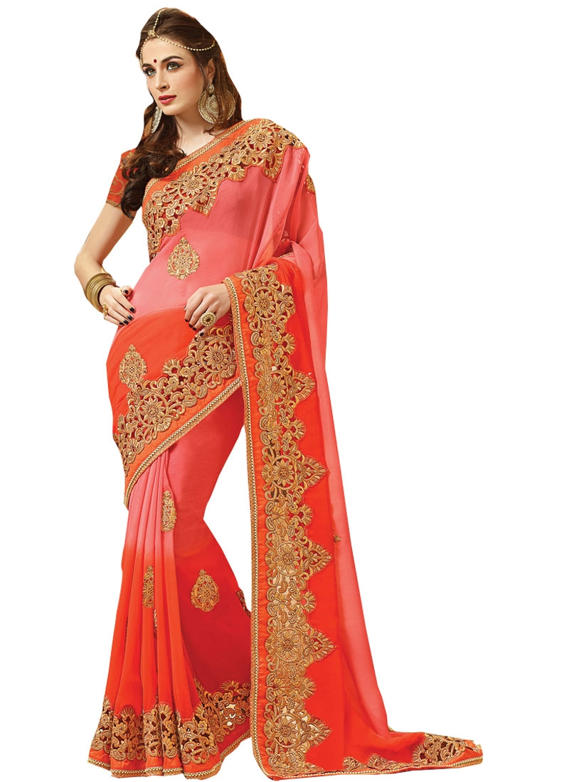 Incredible Stone Work Viscose Bridal Saree