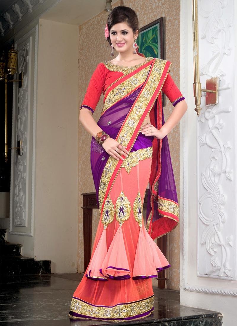 Incredible Velvet Patch Work Net Lehenga Saree
