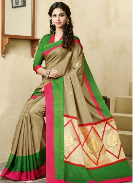 Innovative Beige Color Casual Saree