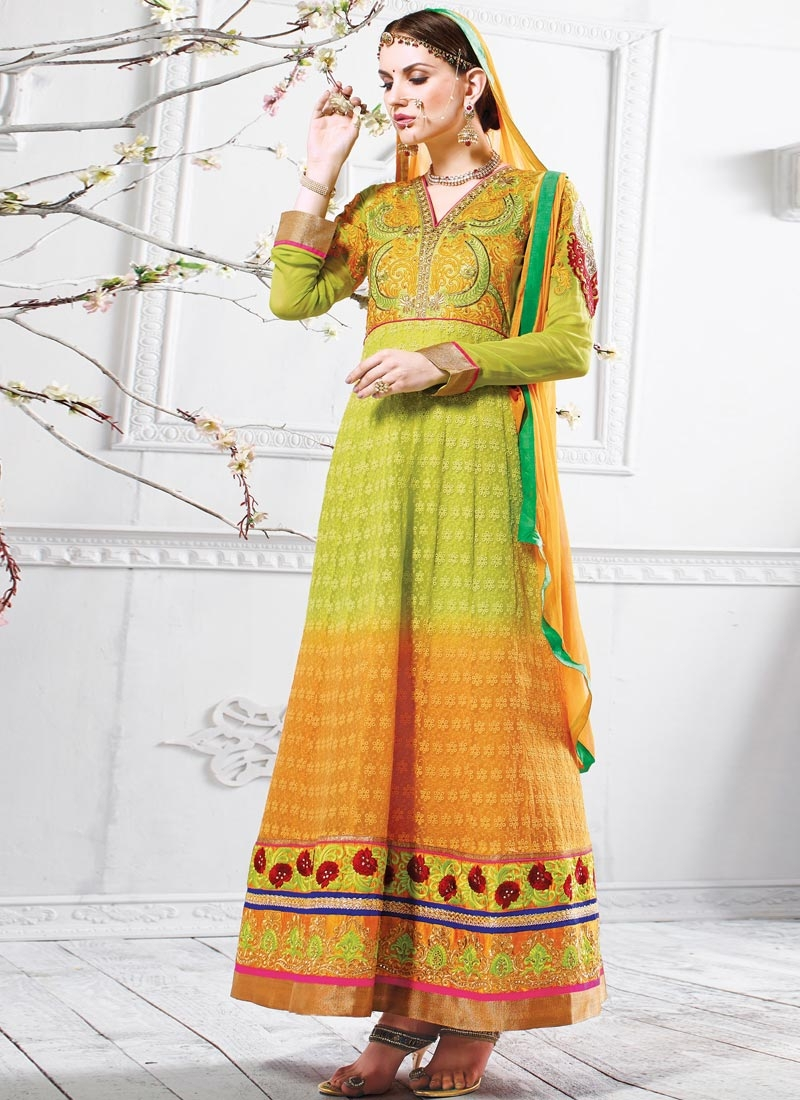 Innovative Chicken And Lace Work Wedding Salwar Suit