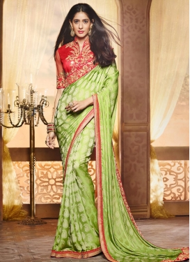 Innovative Embroidered Work Traditional Saree