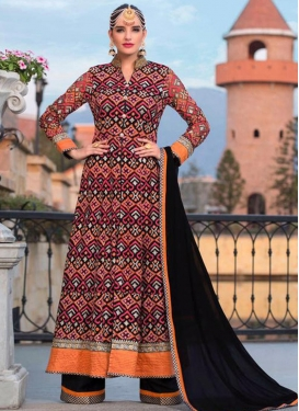 Innovative Faux Georgette Embroidered Work Designer Palazzo Salwar Kameez