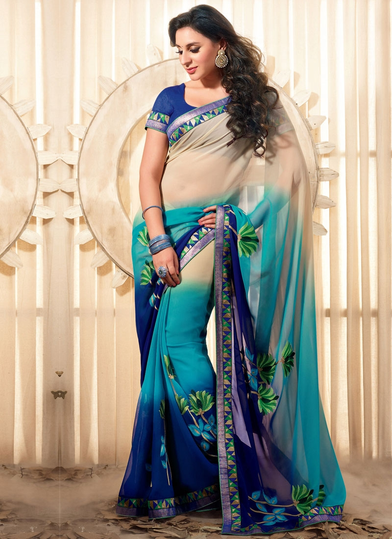 Innovative Faux Georgette Party Wear Saree