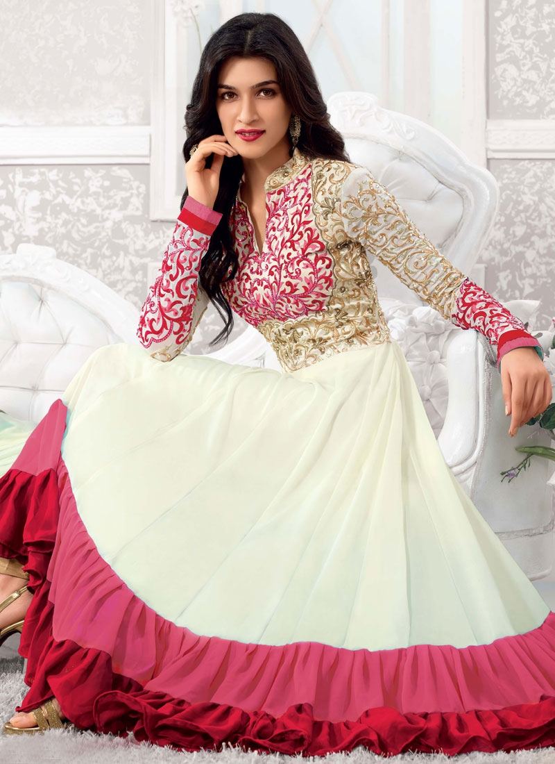 Innovative Jaal Work Georgette Anarkali Salwar Kameez