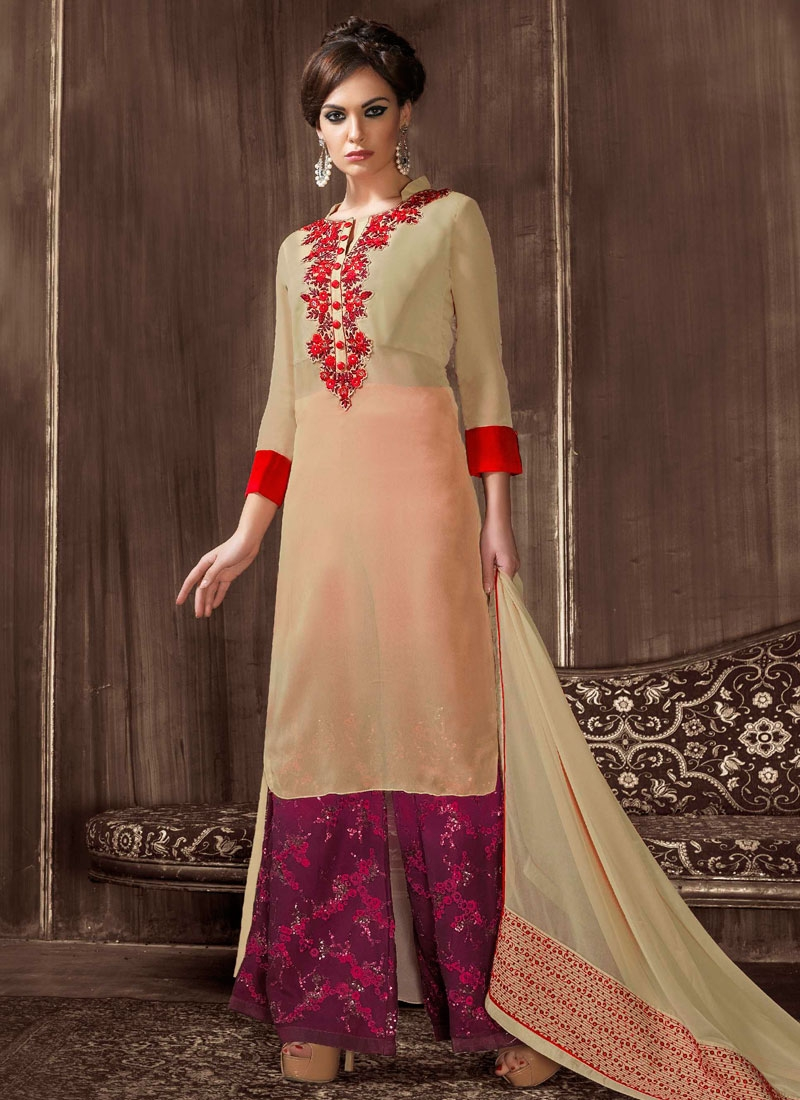 Innovative Sequins Work Palazzo Style Designer Salwar Suit