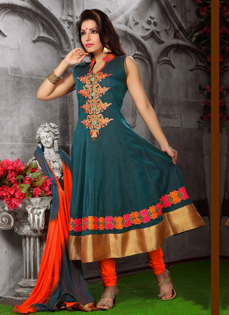 Innovative Stone Enhanced Readymade Salwar Suit