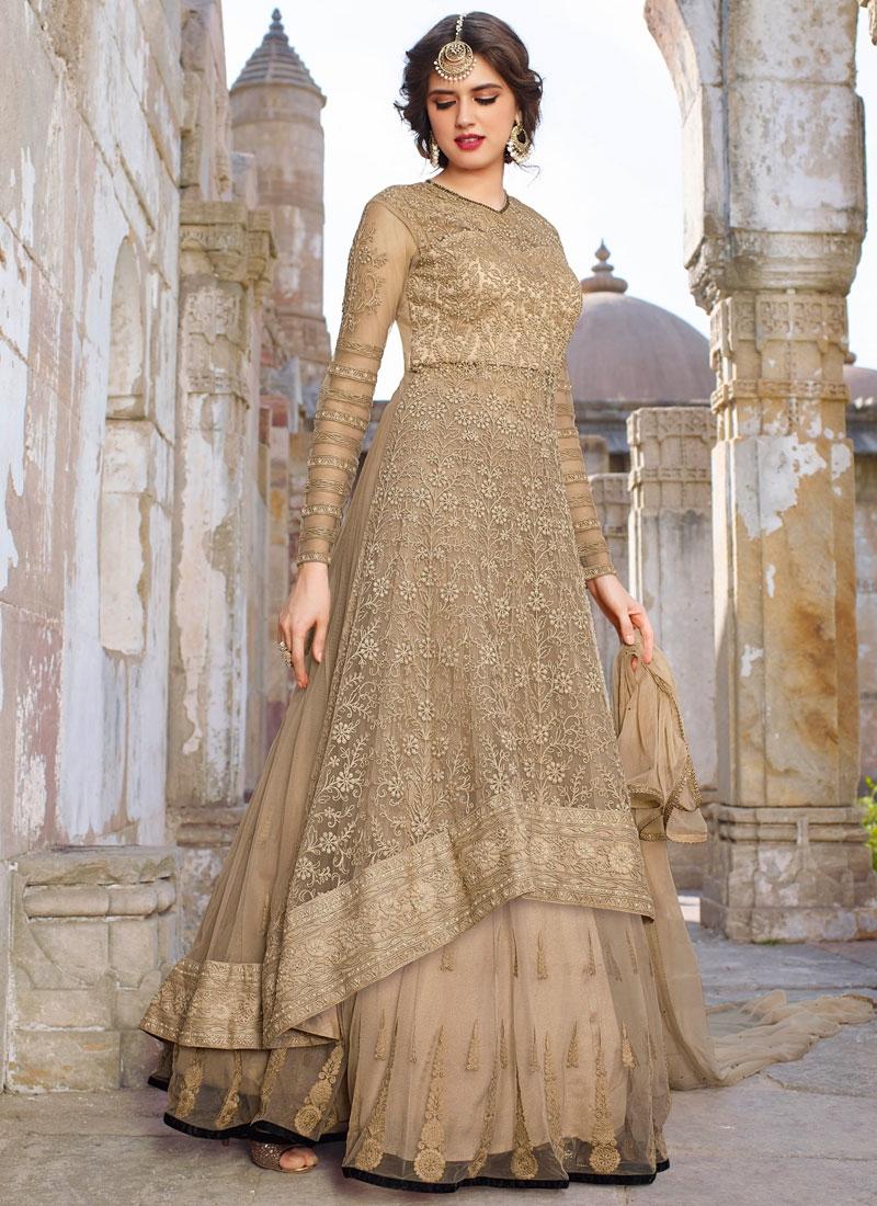 Integral Beads Work Net Wedding Lehenga Choli
