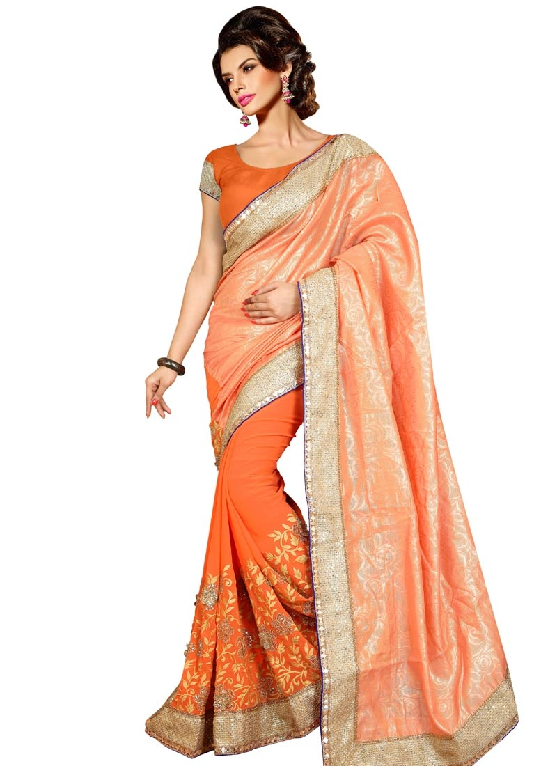 Integral Resham Work Jacquard Party Wear Saree