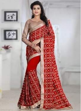 Intricate Beads Work  Trendy Classic Saree