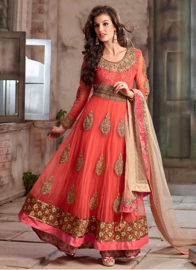 Intricate Booti Work Long Length Wedding Salwar Suit